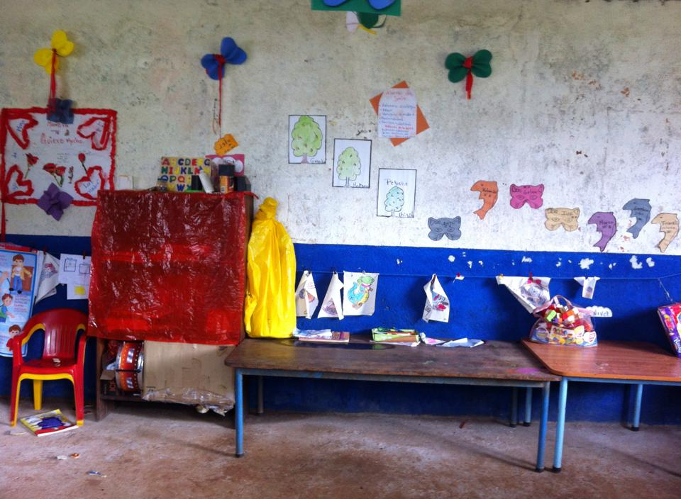 The preschool, after the kids have gone home, in June 2015.