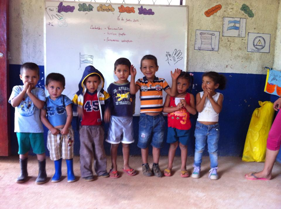 Children at the Las Minitas school, June 2015