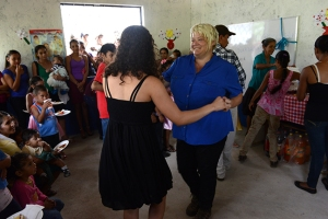 Me, dancing with teacher Marisela, to mariachi music during the opening.